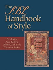 The SBL Handbook of Style: For Ancient Near…