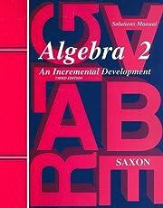 Saxon Algebra 2: Solutions Manual de Unknown