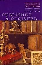 Published & Perished: Memoria, Eulogies &…