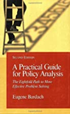 A Practical Guide For Policy Analysis: The…