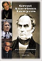 Great American Lawyers: An Encyclopedia (2…