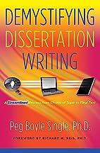 Demystifying Dissertation Writing: A…