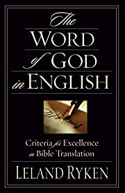 The Word of God in English: Criteria for…