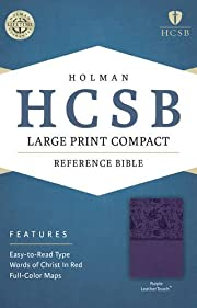 HCSB Large Print Compact Bible, Purple…