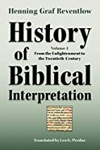History of Biblical Interpretation, Vol. 4:…