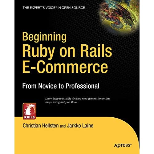 Cover of our upcoming book, Beginning Ruby on Rails E-Commerce