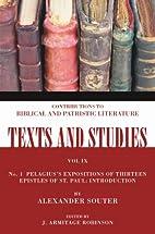 Pelagius's Expositions of Thirteen…