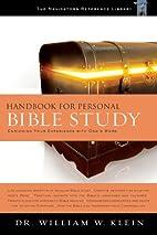Handbook for Personal Bible Study: Enriching…