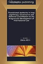 Transitional Authority in Iraq: Legitimacy,…