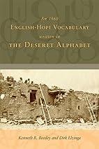 An 1860 English-Hopi Vocabulary Written in…