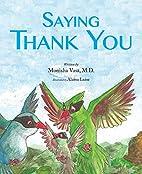 Saying Thank You by Monisha Vasa