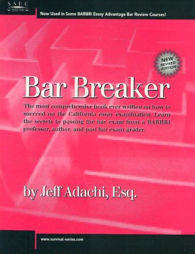 Essay Exam California Bar Examination Lawguides At