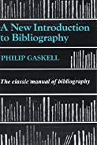 A New Introduction to Bibliography by Philip…