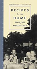 Recipes from Home by David Page