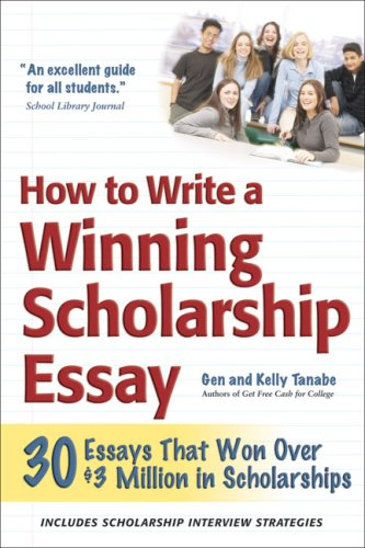 Gen and kelly tanabe scholarship winning essays for college