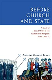 Before Church and State: A Study of Social…