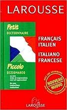 Petit Dictionnaire : Italien/français,…