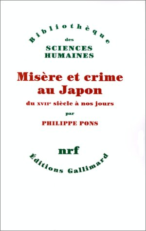Misère et crime au Japon
