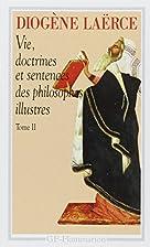 Vie, doctrines et sentences des philosophes…