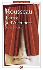 Lettre à d'Alembert by…