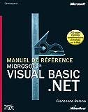 couverture du livre Manuel de référence Microsoft Visual Basic .NET