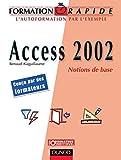 couverture du livre Access 2002 Notions de base