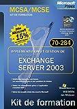 couverture du livre Implémentation et gestion de Microsoft Exchange Server 2003 (70-284)