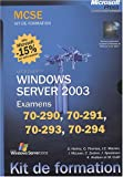 couverture du livre Windows Server 2003- Coffret MCSE (4 volumes)