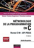 couverture du livre Méthodologie de la programmation en C