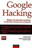 couverture du livre Google hacking
