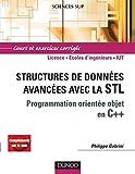 couverture du livre Structures de données avancées avec la STL