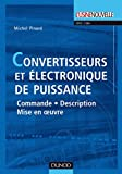 couverture du livre Convertisseurs et électronique de puissance