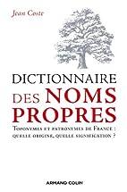 Dictionnaire des noms propres : Toponymes et…