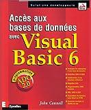 couverture du livre Accès aux bases de données avec Visual Basic 6