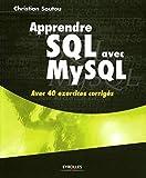 couverture du livre Apprendre SQL avec MySQL