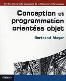 couverture du livre Conception et programmation orientées objet