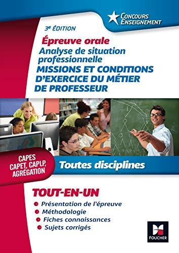 Missions et conditions d'exercice du métier de professeur