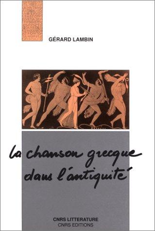 La chanson grecque dans l'Antiquité