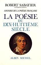 Histoire de la poésie française, volume 4…