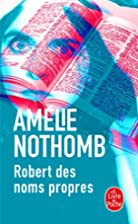 The Book of Proper Names by Amélie Nothomb