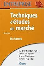 Techniques d'études de marché by Eric…