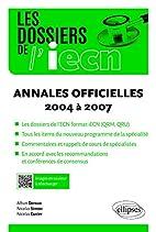 Annales officielles: 2004 à 2007:…
