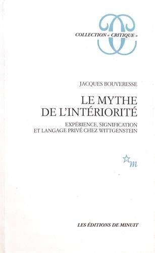Le mythe de l'intériorité