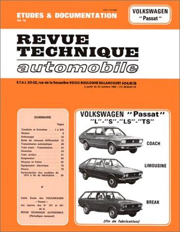 revue technique automobile cip 3373 volkswagen passat l s ls ts etai librairie. Black Bedroom Furniture Sets. Home Design Ideas