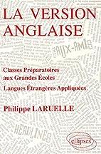 La Version anglaise : Classes préparatoires…