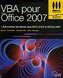 couverture du livre VBA pour Office 2007
