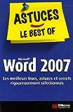 couverture du livre Astuces Le best Of Word 2007