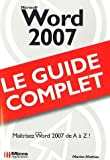 couverture du livre Word 2007