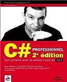 couverture du livre C# Professionnel