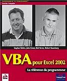 couverture du livre VBA pour Excel 2002